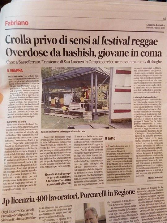 overdose hashish corriere adriatico